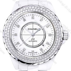 J12 White Ceramic Diamond Dial
