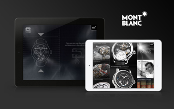 New iPad app for hours on the brand Montblanc