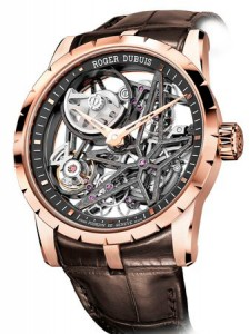 Roger Dubuis created a skeletonized version of the iconic model Excalibur